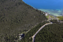 paulina lake IMG_1025 (pdx.rollingthunder) Tags: aerial aerialphotography aviation oregon mountains newberry newberryvolcanicmonument paulinapeak obsidianflow