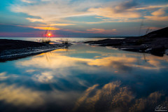 Morning reflections on Lake Superior (owenweberlive) Tags: michigan sunrise sunset landscape water lake dune sand sky grass summer fall autumn spring morning reflections superior porcupine mountains upper peninsula mi