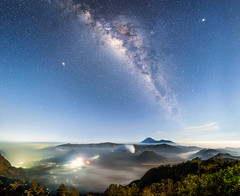 Majestic view of Mount Bromo_DSC_3024 (PRADEEP RAJA K- https://www.pradeeprajaphotos.com/) Tags: nature night sky mountain dark indonesia milkyway landscape bromo asia viewpoint universe adventure fog cloud starry light milky vast space starlight way star morning galaxy beauty black bright astronomy blue vapor famous stars clear science abstract hill nebula constellation ashes telescope panorama observatory eruptions trees tourism crater smoke mount java beautiful active volcano travel scenery national scenic view mist spot volcanic destination astrophotography environment galactica twilight wild cosmic bluesky