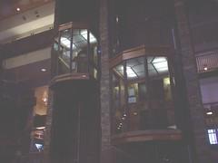 Elevators (Adventurer Dustin Holmes) Tags: 2005 springfield missouri ozarks springfieldmo greenecounty indoor elevators glasselevators building interior architecture basspro bassproshops outdoorworld