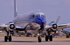 Big, bright and shiny... (Ian A Photography) Tags: aeroplanes aircraft airshow airliners douglas dc6b aviation duxford flyinglegends flyingbulls historicaircraft nikon planes transport