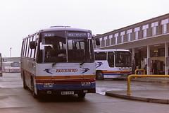 STAGECOACH BLUEBIRD 458 WAO643Y (bobbyblack51) Tags: stagecoach bluebird 458 wao643y leyland tiger alexander tc cumberland 643 aberdeen bus station 1996