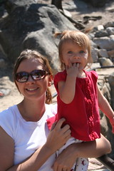 Mar and Lily at the Waterfalls (Phil Scoville) Tags: family wedding colorado grandlake scoville amieandmatswedding