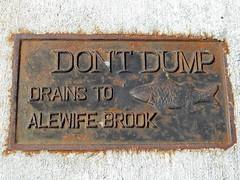 060806dontdump (Dan4th) Tags: cambridge fish storm geotagged ma dump drain sidewalk dont pollution environment brook placard alewife drains 02140 geotoolyuancc geolat42394689 geolon71142544