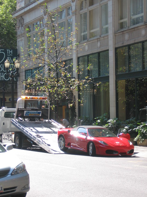 ferrari towed
