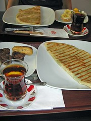 Turkish Breakfast (derya_t) Tags: food breakfast yummy tea trkiye turkiye delicious cay chai turkish turkishfood turqua blacktea turkki kahvalti kahvalt  gzleme turkishbreakfast ay  beyazfrn beyazfirin  goezleme