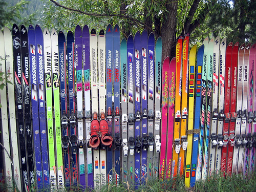 Hopeless Repurposing of Old Skis, Part I by Telstar Logistics.