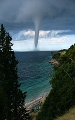 "Tornado ...she is coming (Mladen ""999 Photos"") Tags: croatia tornado brac adriatic waterspout potofgold blueribbonwinner murvica cotcmostinteresting flickrsbest specland specnature abigfave pijavica skycloudssun amazingamateur absolutelystunningscapes maldendj"