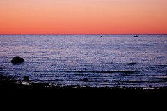 Flickr Pic #3000: Lake Huron / Afterglow / 2 Boats (Craig James White) Tags: sunset lake ontario canada silhouette greatlakes lakehuron portelgin afterglow saugeenshores