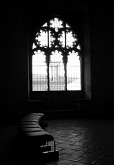 Pause (TalayehS) Tags: blackandwhite bw italy window bench italia tarquinia musem talayeh 1on1photooftheday talayehs talayehsaghatchian