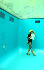 swimming pool () Tags: blue pool japan museum swimming exhibit sanaa leandro kanazawa sejima ehrlich