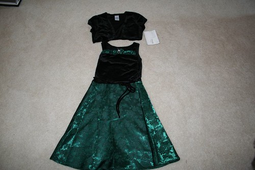 New with tags Emily West black and dark green dress with little jacket