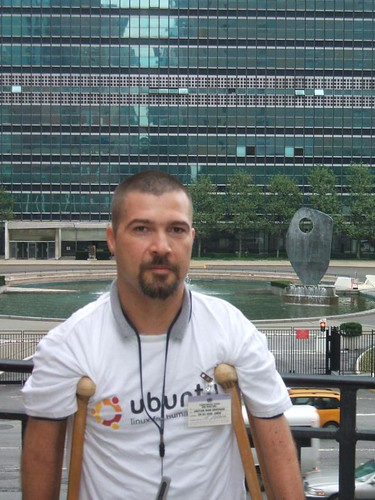 In front of the UN