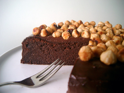 Nutella Cake Cut