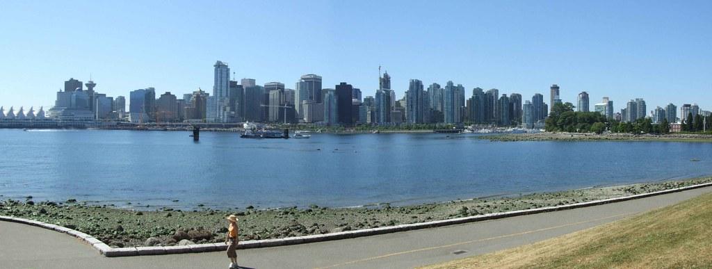 zicht op de skyline van Vancouver