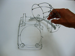 wire telephone02 (polyscene) Tags: shadow portrait sculpture art 3d wire frame polly poly wireframe verity wiresculpture wireart polyscene pollyverity