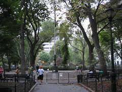 Ugly dog run at Stuyvensant Park by hoggardb, on Flickr