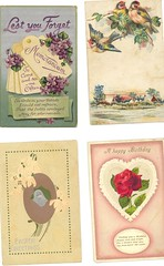 Vintage Cards, group 4 (The Paper Doll) Tags: birthday birds vintage easter cards memorandum vintagecards vintageillustration
