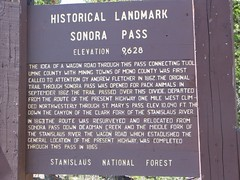 Sonora Pass Historical Landmark (thomas pix) Tags: stanislaus sierra bmw motorcycle sonorapass historicallandmark calbmw
