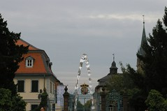 Water fountain and insigna (notafish) Tags: water fountain gate badhomburg