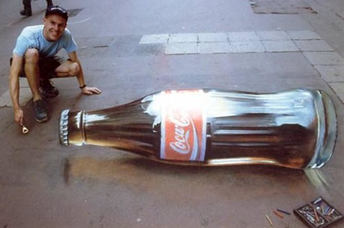 "Example Of 3D Sidewalk Art: A ""Coca-Cola ..."
