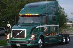 Glistening in the lights (Jenni Reynolds-Kebler) Tags: show road trip truck volvo dallas texas roadtrip 100views 800views 18wheeler truckshow dallastexas