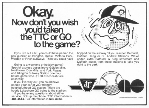 Vintage Ad #59 - TTC or GO to the Game
