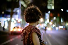 The Girl with a Bokeh Earring (velco) Tags: street girl st topf50 topv555 nikon bokeh earring australia melbourne bourke 50mmf14d bokehphotooftheday bokehsoniceseptember bokehsoniceseptember14