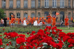 Dancing Orange (Marzy's) Tags: stuttgart soccer nederland fans wm2006 ivoorkust