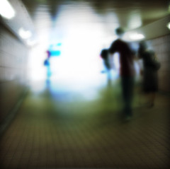 Tunnel Vision (kktp_) Tags: shadow blur postprocessed silhouette d50 square hongkong nikon tunnel outoffocus explore overexposed tunnelvision lightattheendofthetunnel johnpetrucci tamronaf2875mmf28xrdi explore26sep06