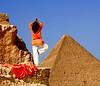 Yoga at Giza (Fiona Ayerst) Tags: yoga pyramid egypt cairo giza