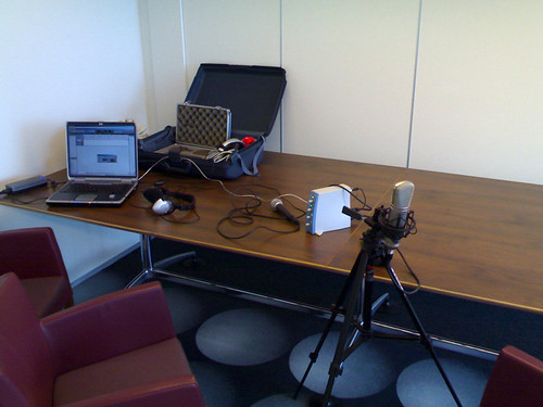 Interview recording equipment