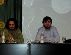 Pere Rusiñol y Nacho Escolar en Miraflores