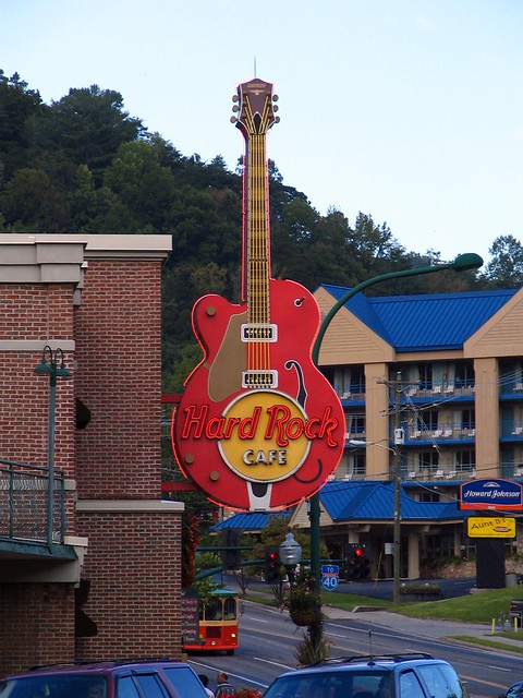Hard Rock Cafe sign - Gatlinburg