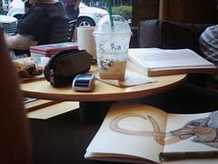 Our Favorite Table (renmeleon) Tags: moleskine coffee starbucks ria renmeleon renfolio