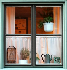 Decorated window (Xavier Donat) Tags: window square d70 sweet sweden stockholm clean blogged deco challengeyouwinner challengewinner