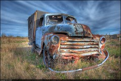 Old Blue (A guy with A camera) Tags: old blue original canada chevrolet rural truck vintage nikon flickr image antique farm country pickup 123 100v10f chevy alberta transportation vehicle farmer wreck hdr highdynamicrange 1950 chev chevrolettruck oldblue d80 hdrsky nikonstunninggallery abigfave p1f1 impressedbeauty 123hdr ultimateshot theartlair
