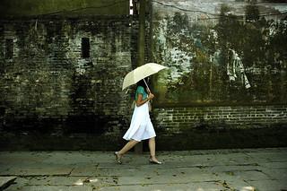 the white dress girl