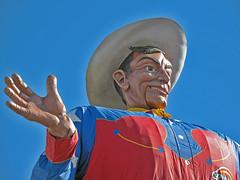 Meet me at... (shutterBRI) Tags: travel blue red canon photography photo dallas big cowboy texas statefair 2006 powershot texasstatefair dfw tall bigtex statefairoftexas a630 metroplex shutterbri canona630 canonpowershota630 brianutesch brianuteschphotography