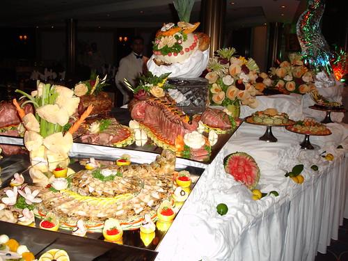 Cena privada en uno de los cruceros a Hawaii