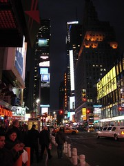 Time Square New York City at night (facing south) (Malone In A Crowd) Tags: newyorkcity timessquare midtownmanhattan newyorkcitytripfall2006