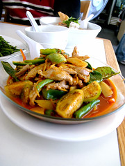 yai thai jungle curry (chotda) Tags: food restaurant losangeles hollywood thai thaitown thaicuisine yaithai