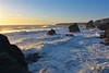 Bedruthan Steps, Cornwall (Nige H (Thanks for 12m views)) Tags: nature landscape sea ocean waves sunset cornwall england atlanticocean southwestengland kernow hightide seascape coast coastline bedruthansteps