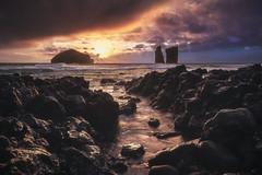 Azores - Mosteiros Sunset (030mm-photography) Tags: rot azoren azores island insel saomiguel mosteiros küstemklippen felsen wellen ocean meer waves cliffs rocks sunset sonnenuntergang landscape landschaft natur nature reise travel