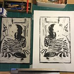 Picasso - Loaves as fingers Linocut thumbnail