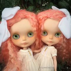 Sharing secrets (queenbee2zz) Tags: berrycherrycustom dressingblythedresses twins mellykaycustoms flora esme ebl blythe takara