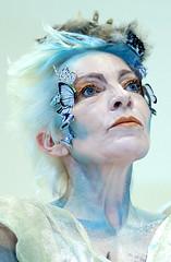 Fantasy lady (Wilamoyo) Tags: woman portrait female face makeup beauty fantasy blue white neck close lady older mature