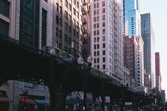 Chicago City Scape (Jovan Jimenez) Tags: canon eos rebel t2 ef 40mm stm fujifilm superia 1600 chicago city scape architecture train fuji film fujicolor analog analogue street skyscraper building