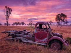 Sunrise Truck (Muzfox) Tags: sunrise landscape dawn colour color truck rural farm ipswich queensland australia field paddock