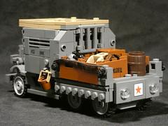 Armoured truck (-Brickr) Tags: legofuture lego tank model moc custom truck russian ww2 army ww world war scifi future